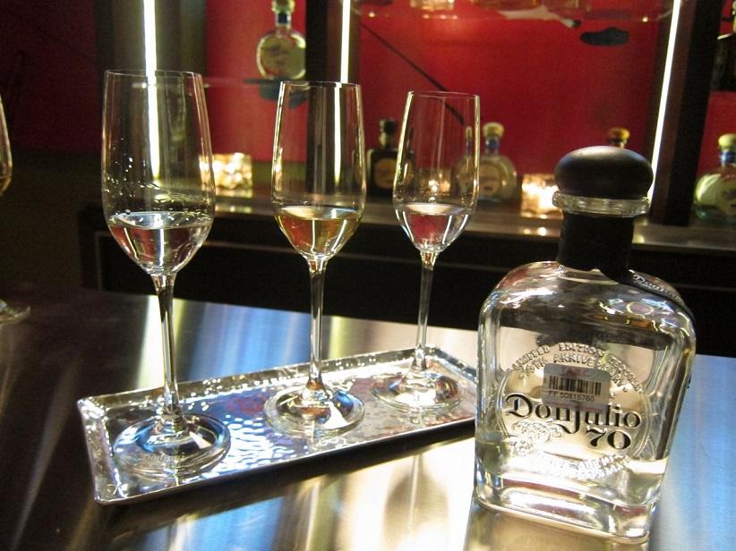 Tequila Don Julio 70 Cristalino Copa El Mar Restaurant